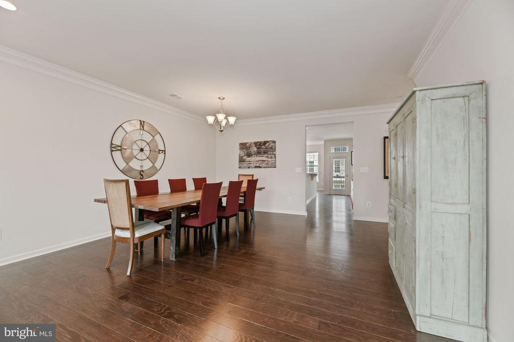 Dining Room - VERY Spacious - Chandelier Conveys! - 43213 THOROUGHFARE GAP TER, ASHBURN
