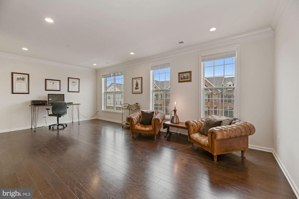 Living Room - Gleaming Hardwoods & Wall of Windows - 43213 THOROUGHFARE GAP TER, ASHBURN