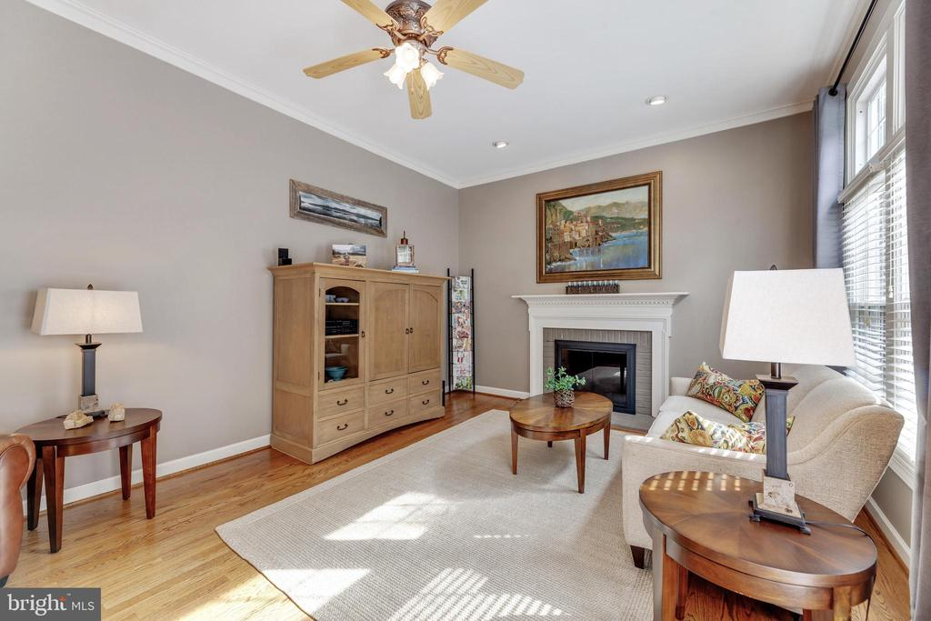 Family Room - Gas Fireplace - 16660 MALORY CT, DUMFRIES
