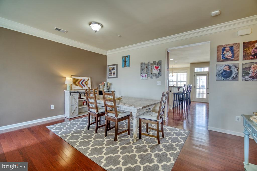 Dining Room with Beautiful Hardwood Floors - 43015 CLARKS MILL TER, ASHBURN