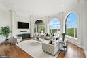 Family Room with River Views - 612 RIVERCREST DR, MCLEAN
