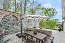 Intimate Patio Space - 612 RIVERCREST DR, MCLEAN