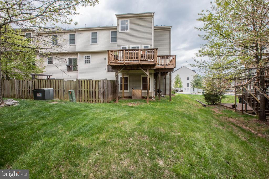 Back View of Yard and Deck! - 8921 TAPPEN MILL WAY, MANASSAS