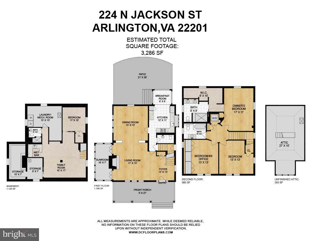 224 N. Jackson Street Floor Plan - 224 N JACKSON ST, ARLINGTON