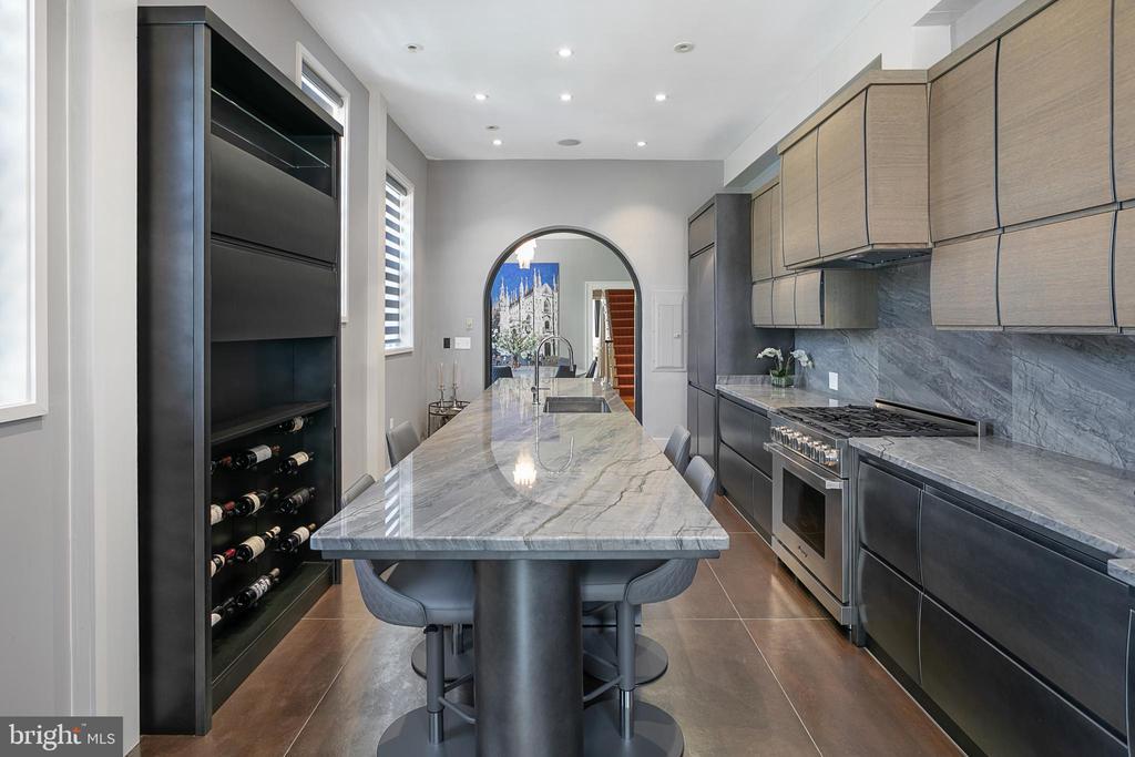Renovated Gourmet Kitchen - 2019 Q ST NW, WASHINGTON