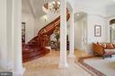 Foyer and open interior floor plan - 9211 BLACK RIFFLES CT, GREAT FALLS