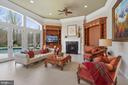 Family Room overlooking pool - 9211 BLACK RIFFLES CT, GREAT FALLS