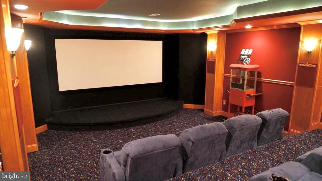 Home Theatre with Surround Sound system - 19582 SARATOGA SPRINGS PL, ASHBURN