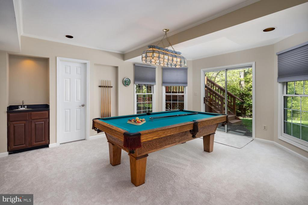 Recreation Room Walkout with Wet Bar - 10654 CANTERBERRY RD, FAIRFAX STATION