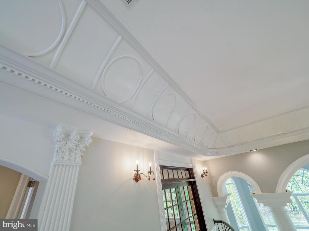 Detailed custom moldings throughout - 11009 HAMPTON RD, FAIRFAX STATION