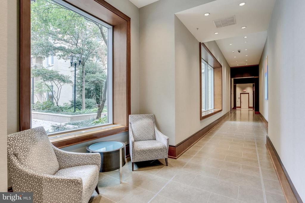 Hallway on Main Level Near Mail Room - 11990 MARKET ST #411, RESTON