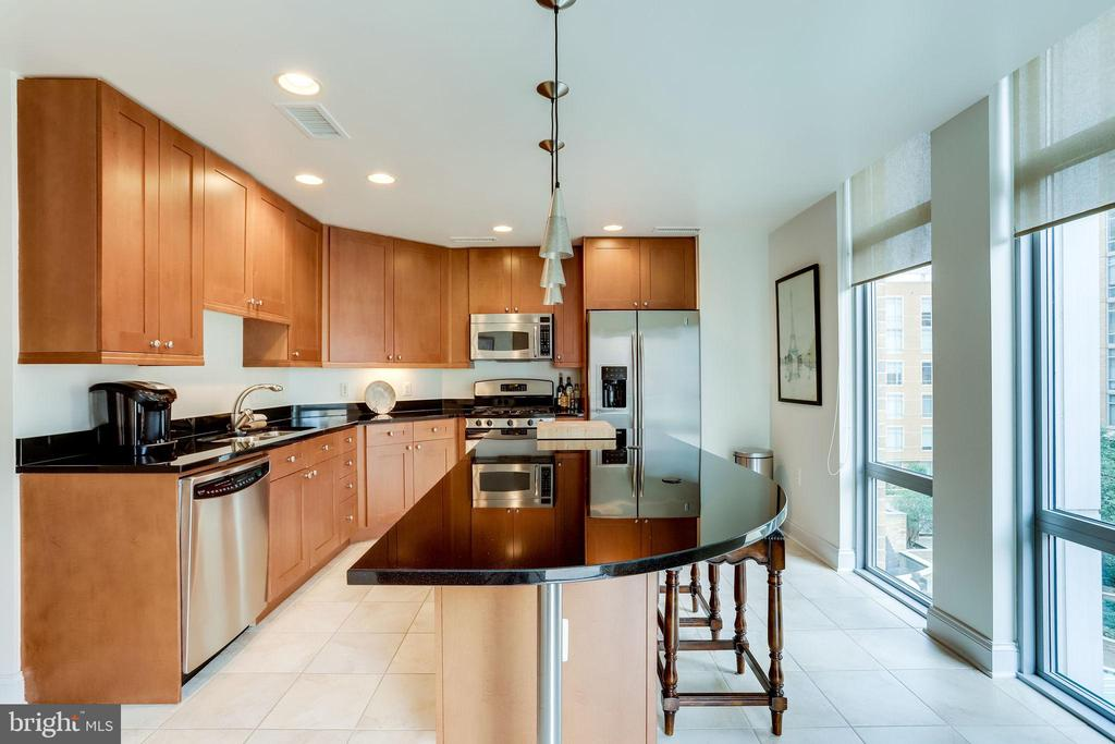 Kitchen Windows View Pool Area - 11990 MARKET ST #411, RESTON