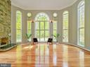 Gorgeous family room with floor to ceiling windows - 11009 HAMPTON RD, FAIRFAX STATION