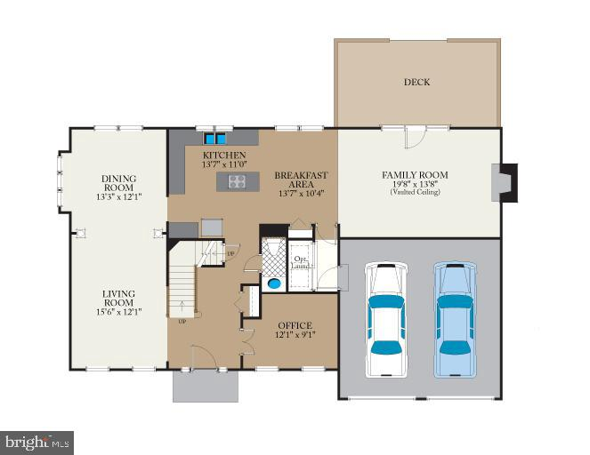 Main level floor plan - 8104 CREEKVIEW DR, SPRINGFIELD