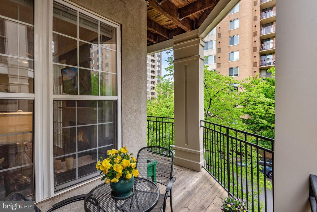 Private patio with tree top views - 2310 14TH ST N #206, ARLINGTON