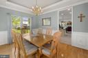 Upgraded wainscot in formal dining room - 2104 BEAR CREEK CT, FREDERICK