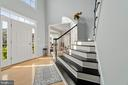 Tons of natural light in two story foyer - 2104 BEAR CREEK CT, FREDERICK