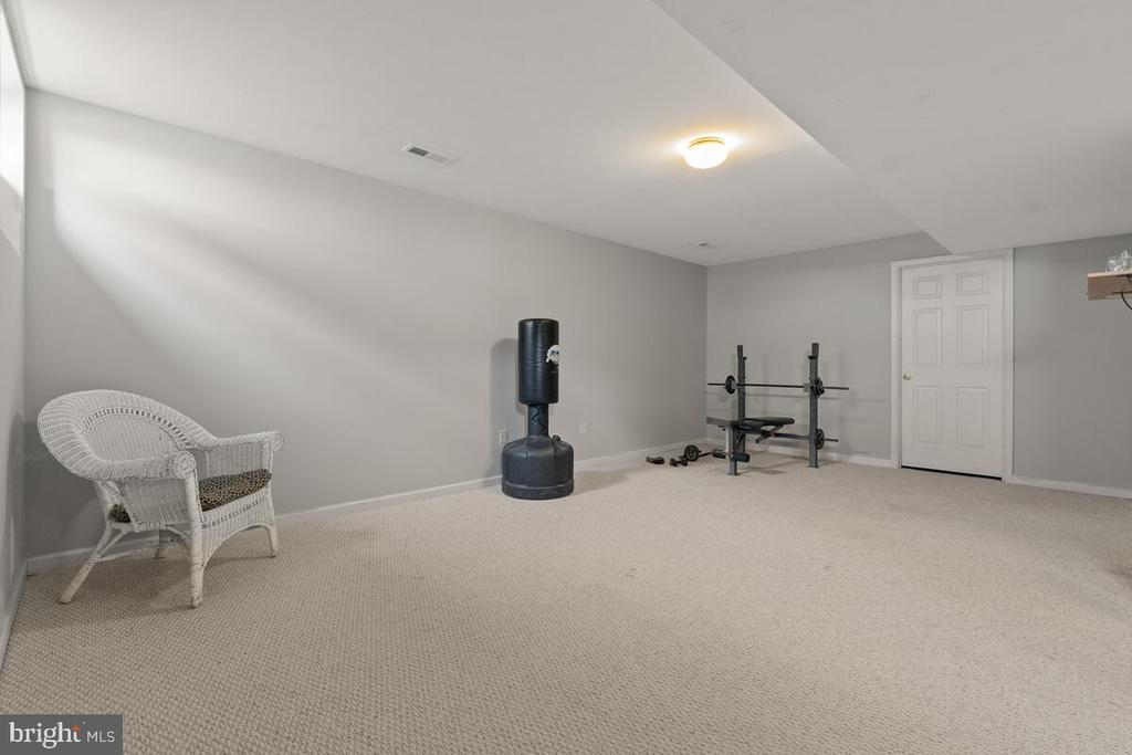 Partial finished basement with natural lighting - 2104 BEAR CREEK CT, FREDERICK