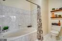 Soaking tub and shelving for storage and decor - 20933 CEDARPOST SQ #302, ASHBURN