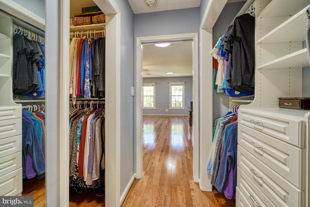 Custom closets in 4 of the bedrooms - 2645 BLACK FIR CT, RESTON