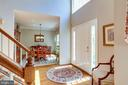Foyer opens to dining room and living room. - 1206 WOODBROOK CT, RESTON