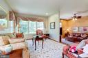 Extra windows in the end unit living room. - 1206 WOODBROOK CT, RESTON
