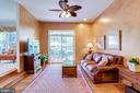 Tall ceilings in family room. - 1206 WOODBROOK CT, RESTON