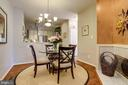 Casual dining area off kitchen. - 1206 WOODBROOK CT, RESTON