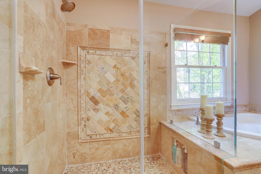 Oversize walk in shower. - 1206 WOODBROOK CT, RESTON