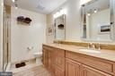 Upgraded hall bathroom on the upper level. - 1206 WOODBROOK CT, RESTON