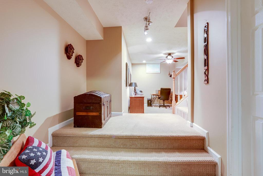 Extra lighting in lower level with custom paint - 1206 WOODBROOK CT, RESTON