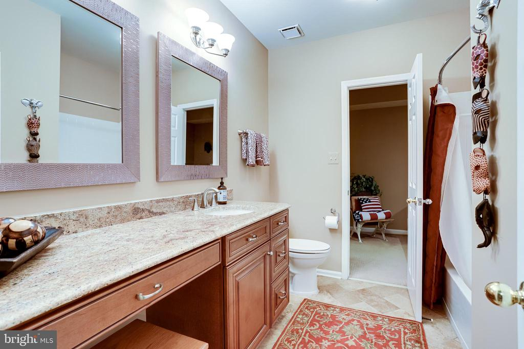 Full upgraded bathroom in the lower level - 1206 WOODBROOK CT, RESTON