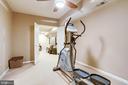 Bonus room in lower level - 1206 WOODBROOK CT, RESTON
