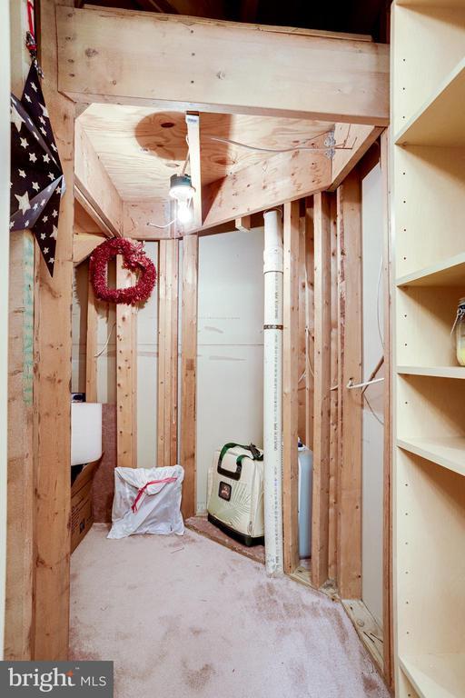 Large unfinished storage area. - 1206 WOODBROOK CT, RESTON