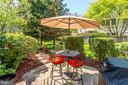 Private patio for entertaining. - 1206 WOODBROOK CT, RESTON