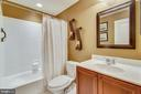 Full bath in basement - 23397 MORNING WALK DR, BRAMBLETON
