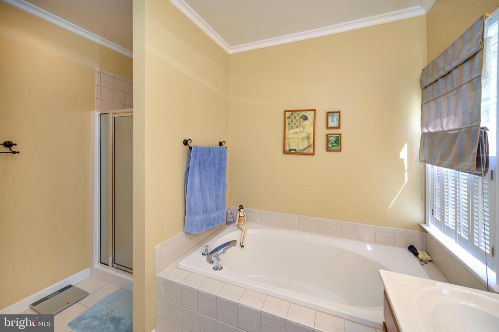 Separate shower completes the en-suite - 609 STRATFORD CIR, LOCUST GROVE