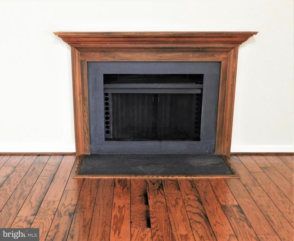Wood-burning FP with slate surrounds & mantle - 12520 BROWNS FERRY RD, HERNDON