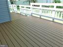 Two-level Trex deck with SG doors for each level - 12520 BROWNS FERRY RD, HERNDON