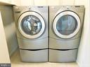 Updated front-load washer & dryer with storage - 12520 BROWNS FERRY RD, HERNDON
