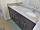 Newer dual-basin vanity/quartz countertop/faucets - 12520 BROWNS FERRY RD, HERNDON