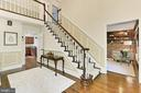 Two Story Foyer with upper level overlook - 10700 HAMPTON RD, FAIRFAX STATION