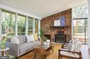 Living  room with a wall of windows - 11530 HIGHVIEW AVE, SILVER SPRING