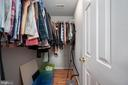 Primary bedroom walk - in closet. - 4 CATHERINE LN, STAFFORD