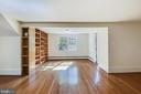 Bedroom #1 with built ins - 3033 KNOLL DR, FALLS CHURCH