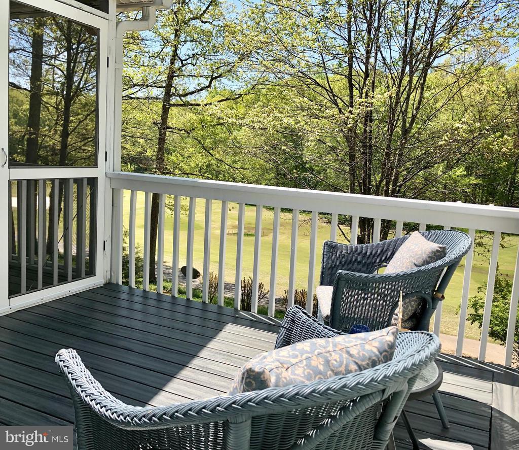 Deck off Screen porch! - 222 BIRDIE RD, LOCUST GROVE