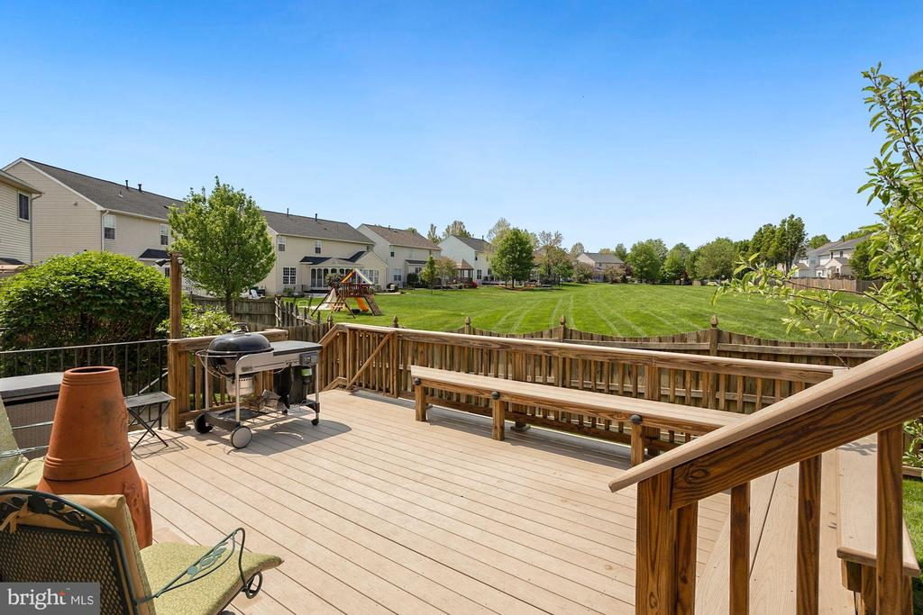 Trex Deck with built-in benches - 122 BALCH SPRINGS CIR SE, LEESBURG