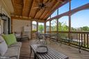 Screened Porch leads into Kitchen, or out to Deck - 122 BALCH SPRINGS CIR SE, LEESBURG