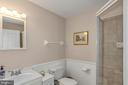 Lower Level full Bath with shower - 122 BALCH SPRINGS CIR SE, LEESBURG