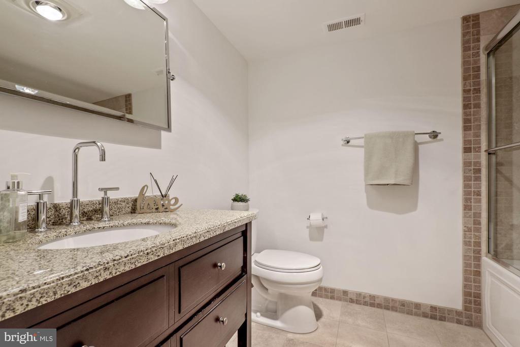 4th full bath  with Travertine flooring - 2108 OWLS COVE LN, RESTON